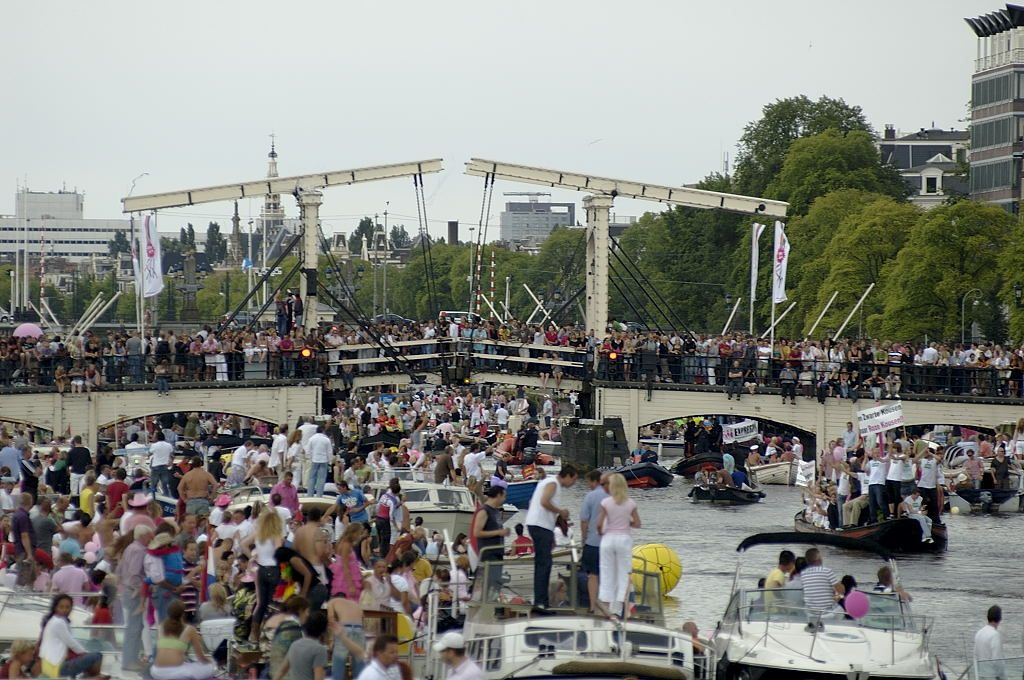 Magere Brug - Canal Parade 2008 - Amsterdam